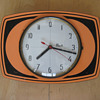 Vintage 60's or 70's French Flash transistor wall clock.