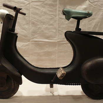 Vintage Vespa like pedal car