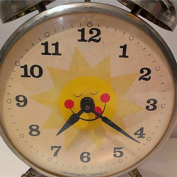 Kellogg's Raisin Bran Promotional Alarm Clock - Clocks