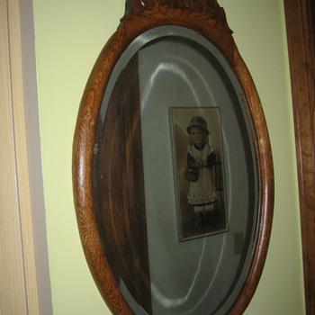 Oak framed mirror  - Furniture