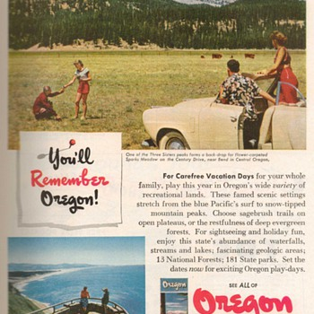 1952 - Oregon Travel Advertisement