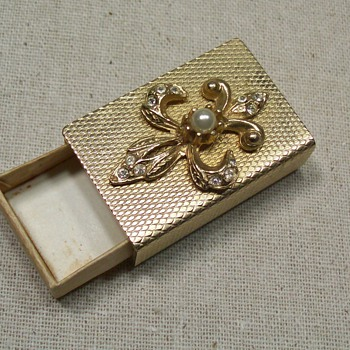 gold colored matchbox