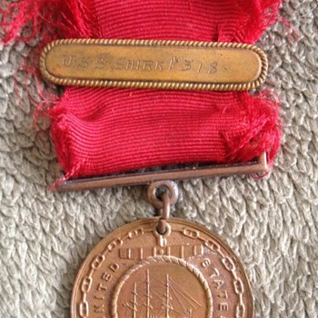 Rare Original USN Good Conduct Medal Inscribed - Military and Wartime