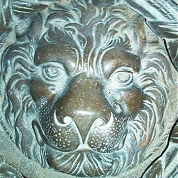 Antique Lion Head Door Knocker - Tools and Hardware