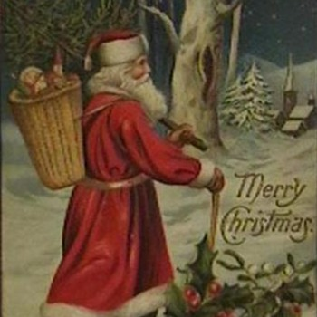 Early 1900's Christmas Postcards - Christmas