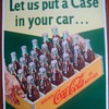 1950s Coca-Cola cardboard case sign