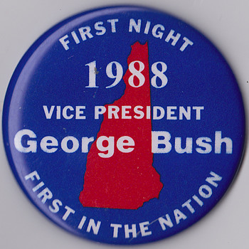 George Bush Sr pin from 1988 running for president - Medals Pins and Badges