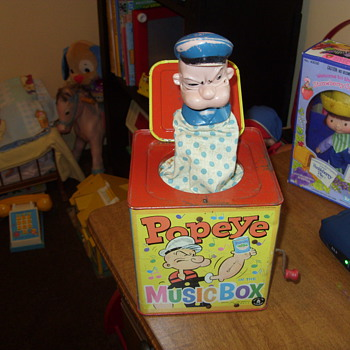 1953 popeye music box - Toys