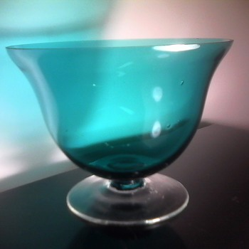 Teal Glass Bowl