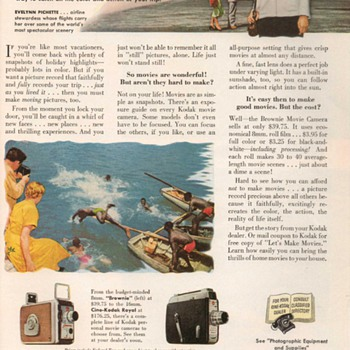1953 - Kodak Movie Cameras Advertisement - Advertising
