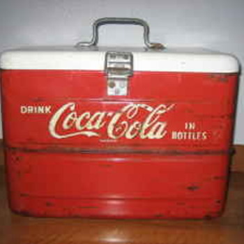 Vintage Coca Cola Metal Cooler