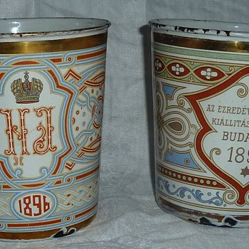 Historical Royalty and other Enamel Memorabilia Cups - Advertising