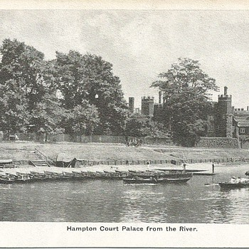 HAMPTON COURT PALACE FROM THE RIVER - Postcards