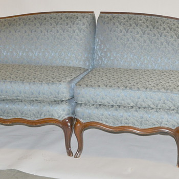 Antique Victorian Couch - 2 Sections Measure 8ft 6in - Furniture