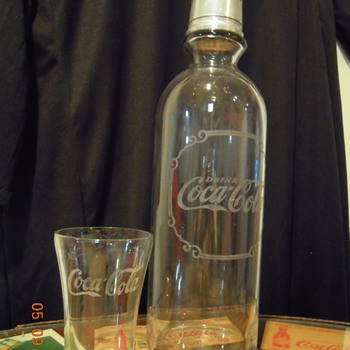 1920&#039;s Coca-Cola Syrup Bottle and Modified Flare Glass