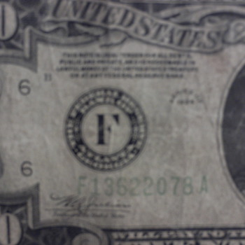 Unusual Twenty Dollar Silver Certificate - US Paper Money