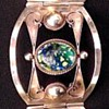 silver and foil opal bracelet