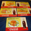 1957 Coca-cola Cardboard easel back signs
