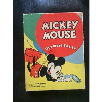 1937 Mickey Mouse old maid card game