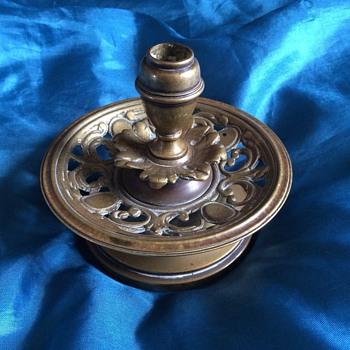 Brass candle stick holder.
