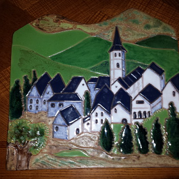 large wall plaque - Art Pottery
