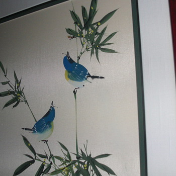bluebirds on silk - Asian