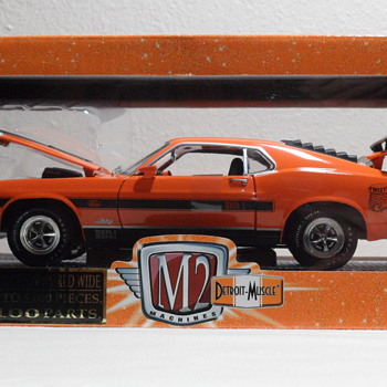Die Cast 1970 Orange Mustang Mach 1 428 Twister Special
