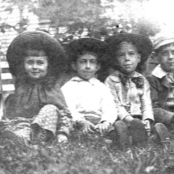 3 prints of boys n camps around 1900, and nice print of 4 kids - Photographs