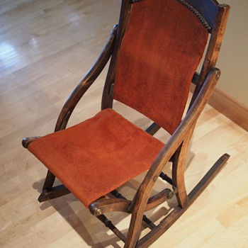 Folding Rocking Chair (later 1800's?) - Furniture