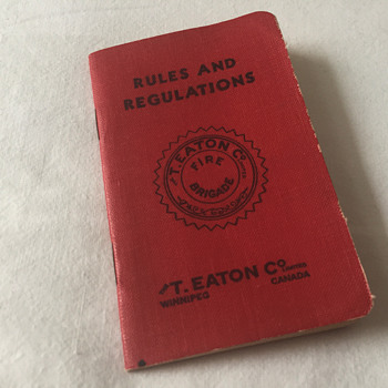 The T. EATON Co Limited, Winnipeg Fire Brigade Handbook