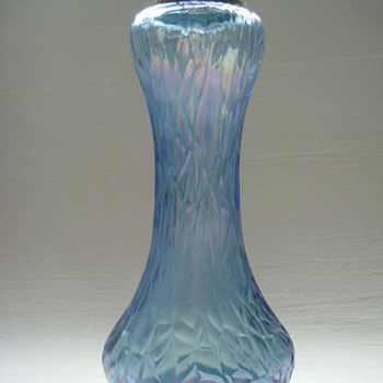 Bohemian Art Nouveau Webbed Vase - Art Glass