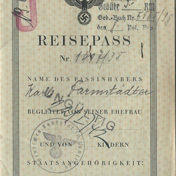 German J stamped passport - Paper