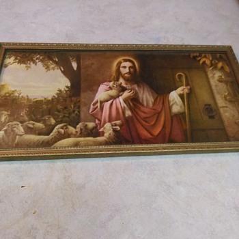 VINTAGE RELIGIOUS PRINT - Visual Art