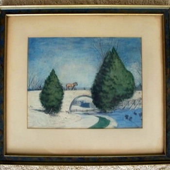 Canadian Folk Painting - Circa 1910 - 1920 - Gouache / Watercolor,  Recognise Artist?