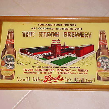 Strohs Beer Sign - Breweriana
