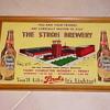 Strohs Beer Sign