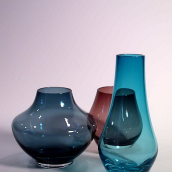 Three Small Gralglas vases by Konrad Habermeir and Josef Stadler - Art Glass