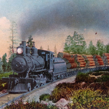 Logging Train in the West