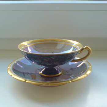 Dresden hand painted porcelain demitasse cup - China and Dinnerware