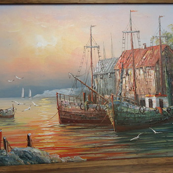 OIL PAINTING ON CANVAS..SIGNED