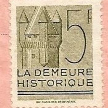 French Stamp and Ticket stub
