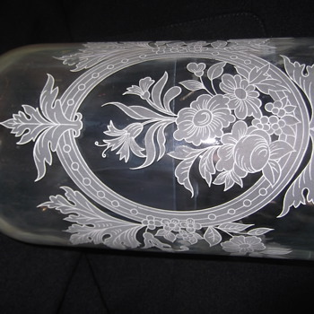 Old vintage parfume Glass jar