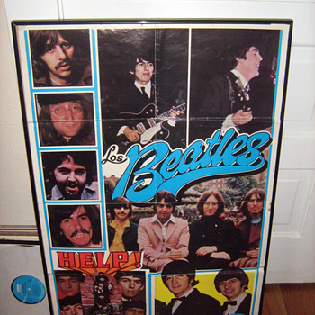 RARE Spanish Beatles Poster - Music