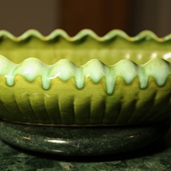 California Pottery Compote Dish or Ikebana?? - Art Pottery