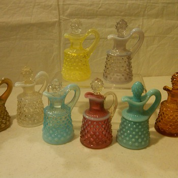 COMPLETE COLLECTION OF FENTON OIL CRUETS  + SAMPLE ONE - Glassware