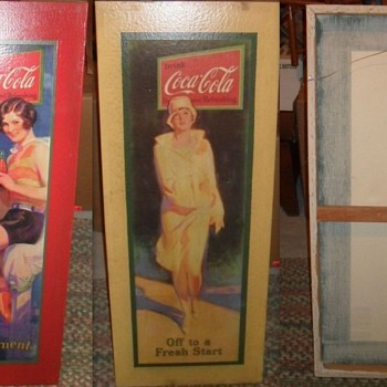 German Retro Coca-Cola Art - Repro 1929 Paper Signs - Coca-Cola