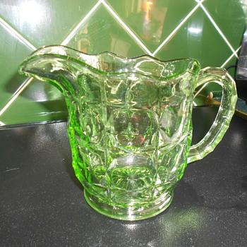 Uranium Vintage glass Jug - Glassware