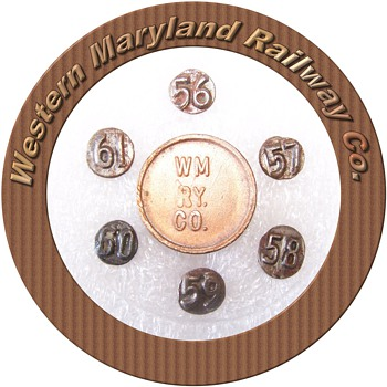 Complete Set of Western MD Railway Nails