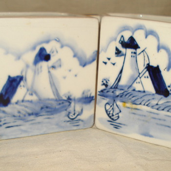 BLUE AND WHITE SUGAR AND CREAMER - Kitchen