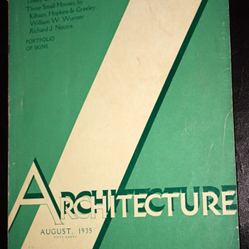 Architecture Magazine - August, 1935 - Mid Century Modern